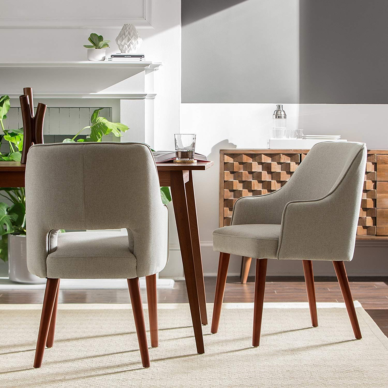 Rivet Whidbey Mid-Century Open Back Accent Dining Chair ...