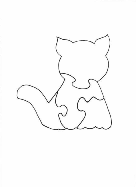 Wood Jigsaw Puzzle - Cat Puzzle Projects to try Pinterest - blank puzzle template