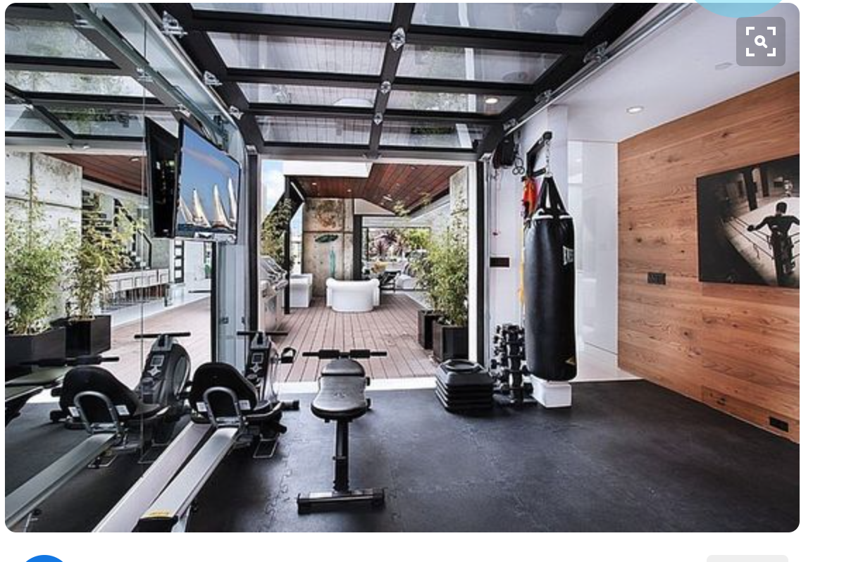 Garage Gym With Car Ranch Gym Ranch Gym Gym Room At Home At Home Gym Gym Room