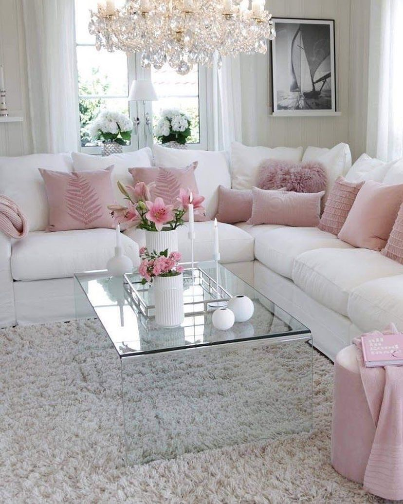 26+ Best Pink Grey And Black Living Room Ideas  Shabby chic