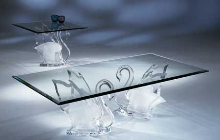 LEGEND SWAN COFFEE TABLE BASE By Shahrooz Shahrooz Art.com    #AcrylicFurniture, · Acrylic FurnitureLucite ...