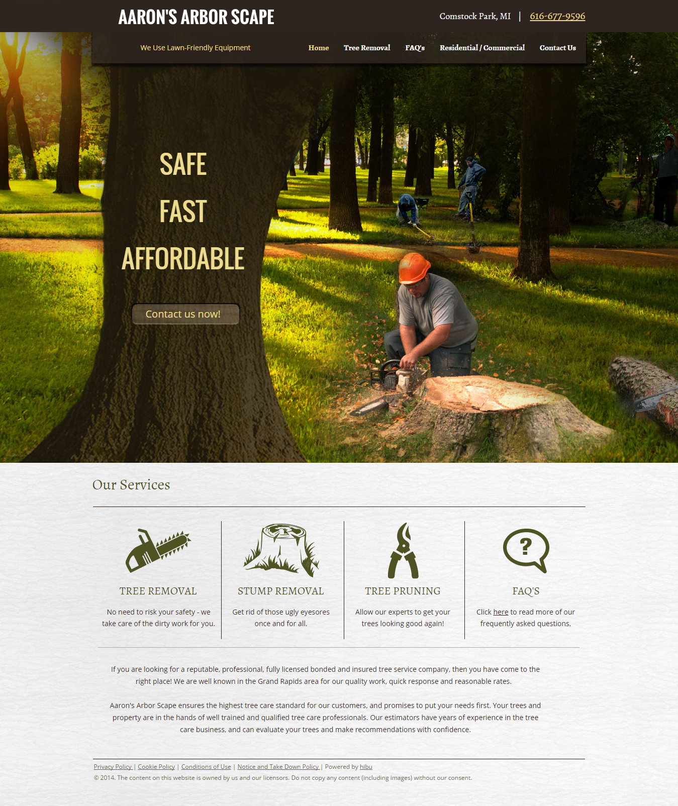 Designed for tree service business. | Website designs | Pinterest