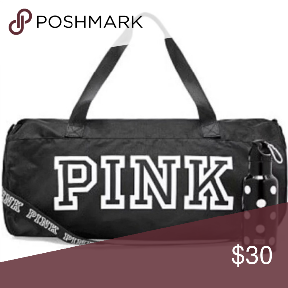 PINK Duffel Bag with Water Bottle New duffel bag with water bottle. Comes  from a pet and smoke free home. PINK Victoria s Secret Bags a62639f5f8a06