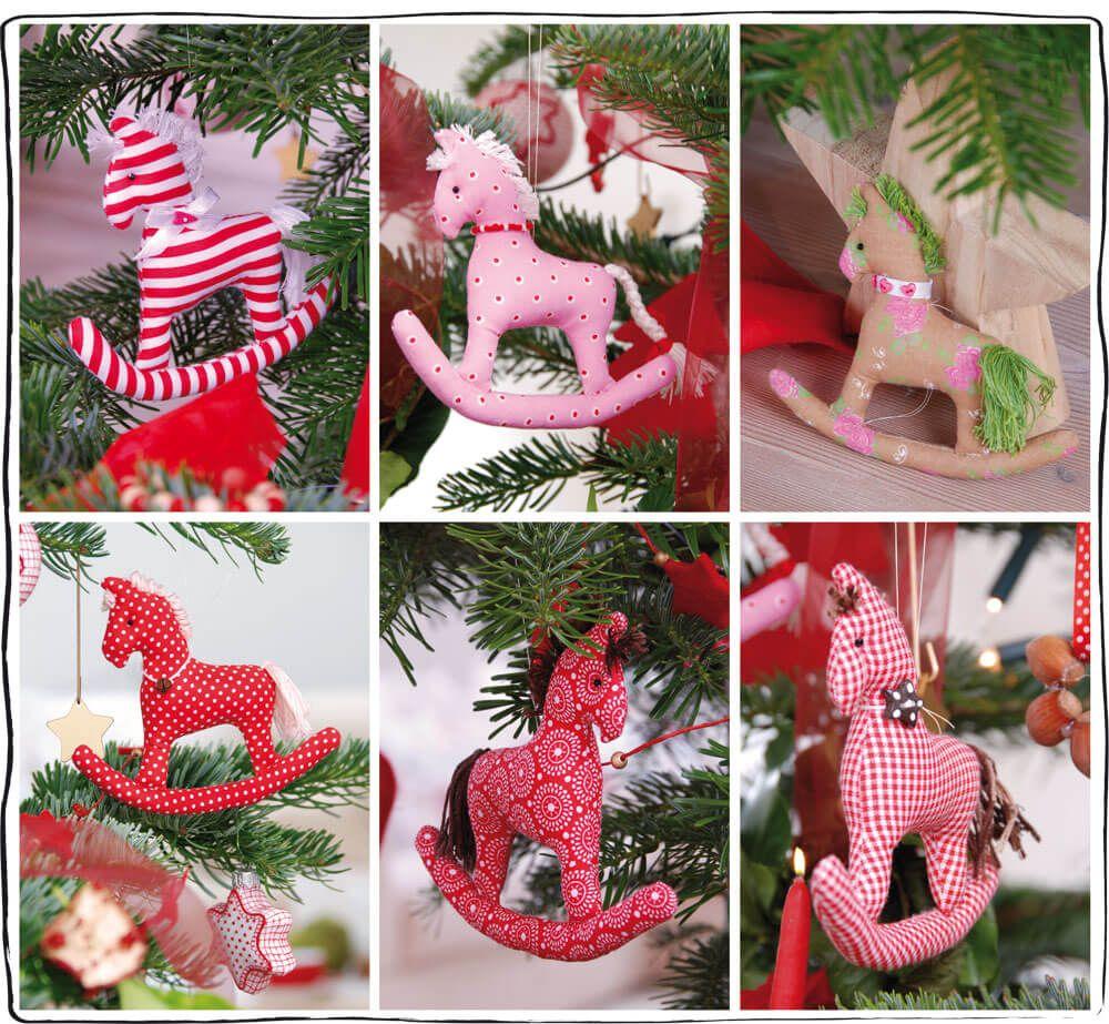 genaehteschaukelpferde  weihnachtsbasteln schaukelpferd