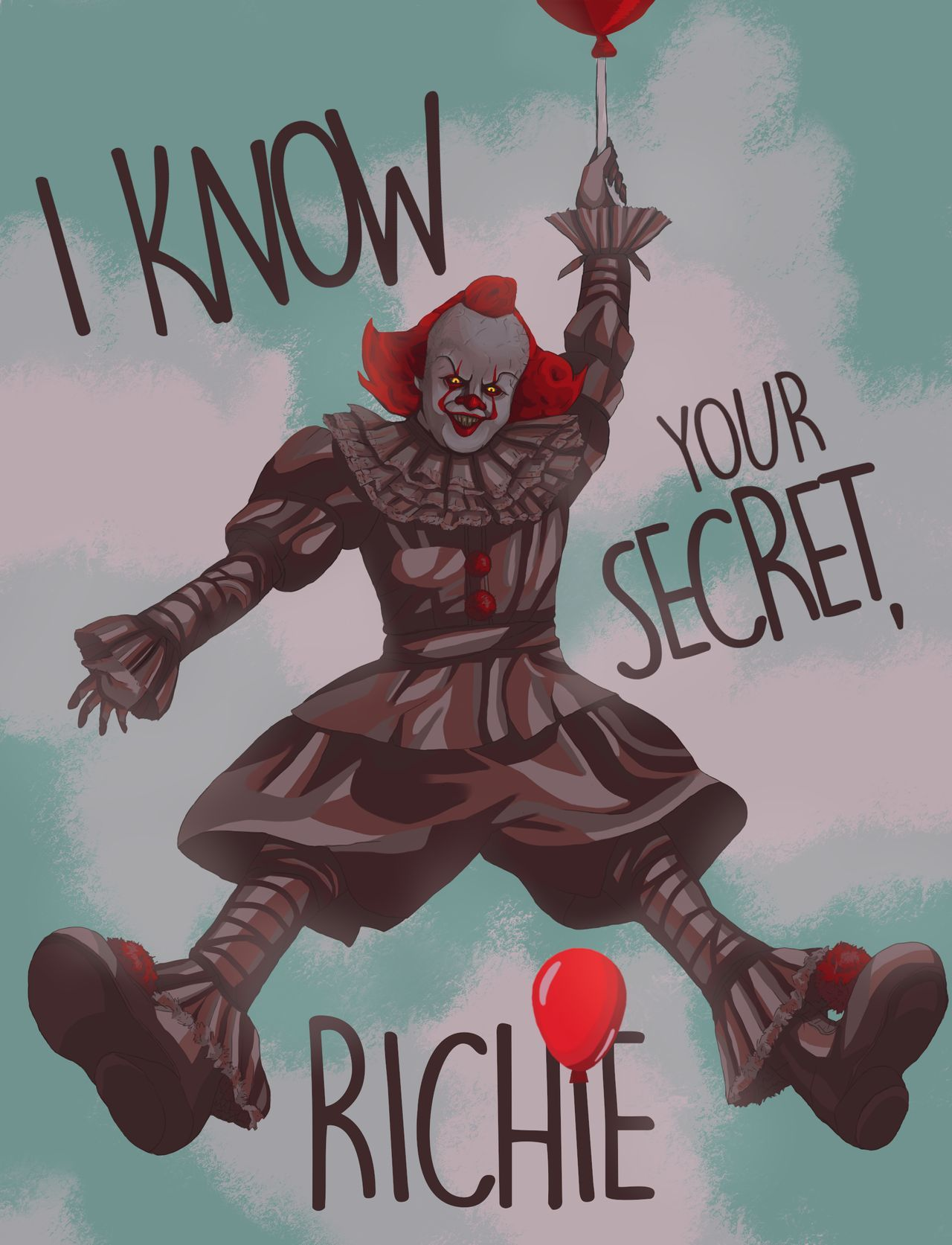 I Know Your Secret By Niinia On Deviantart Pennywise The Dancing Clown Horror Movie Icons Pennywise The Clown