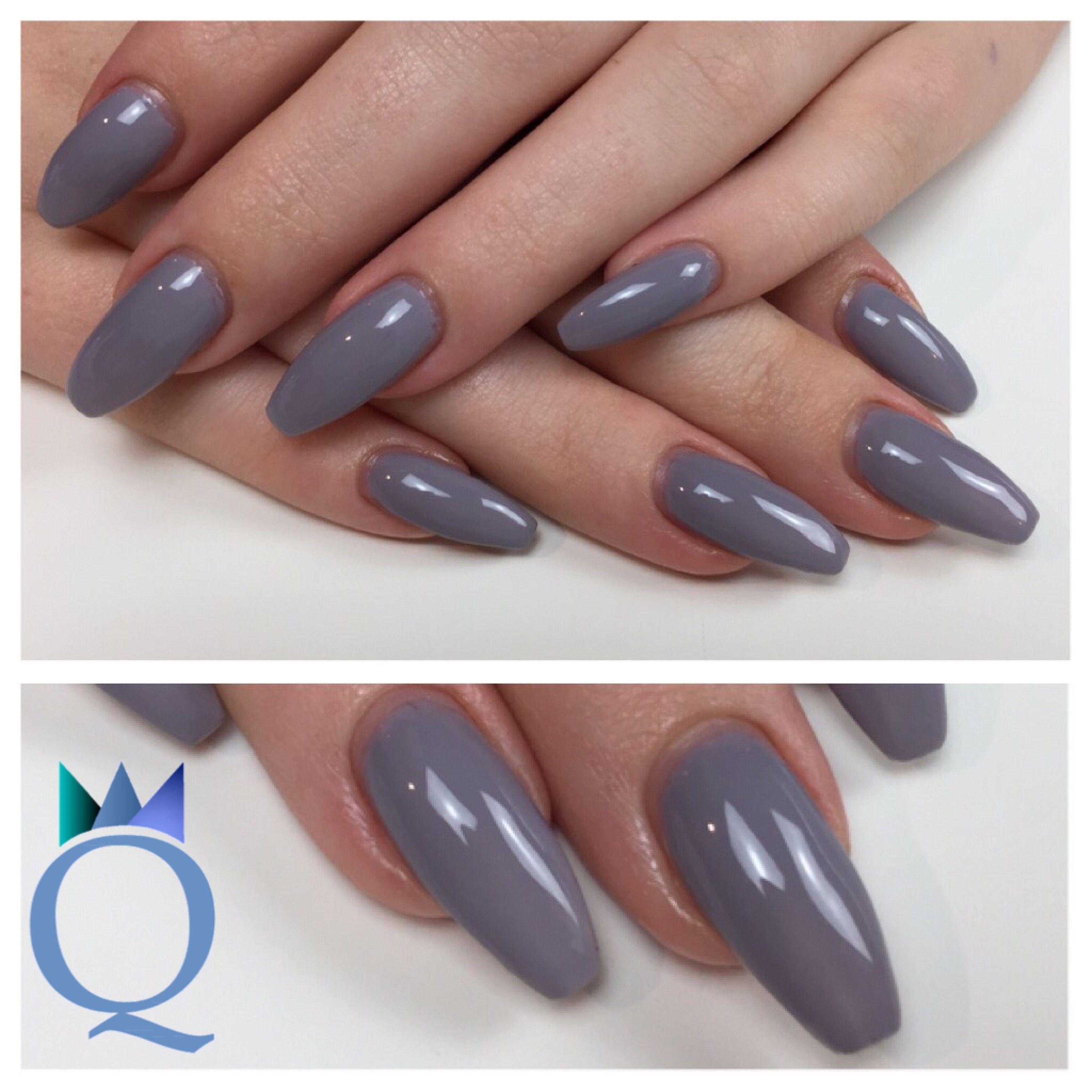 coffinnails ballerinashape gelnails nails grey. Black Bedroom Furniture Sets. Home Design Ideas