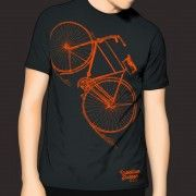 Mens Cycle T-shirt Michael Collins High Nelly Bicycle - Charcoal Grey