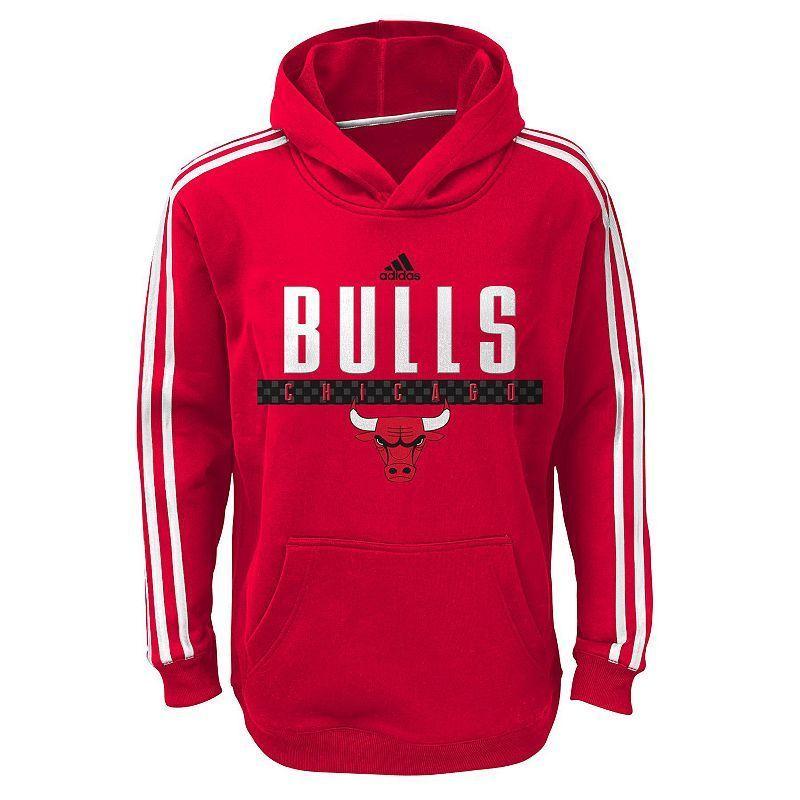 Boys 8-20 Adidas Chicago Bulls Playbook Hoodie, Boy's, Size: Medium, Multicolor