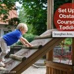 Setting Up a Toddler Obstacle Course