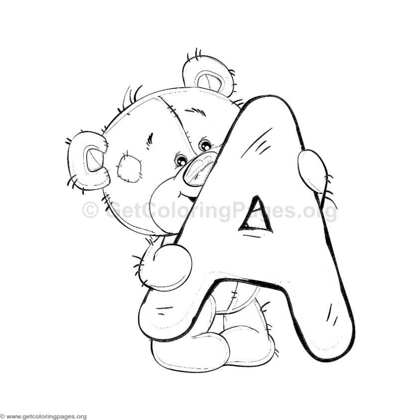 Alfabeto Ursinhos Para Colorir Ou Usar Como Molde Desenho De