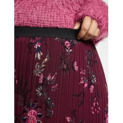 Photo of Pleated skirt with flower print red Gerry Weber