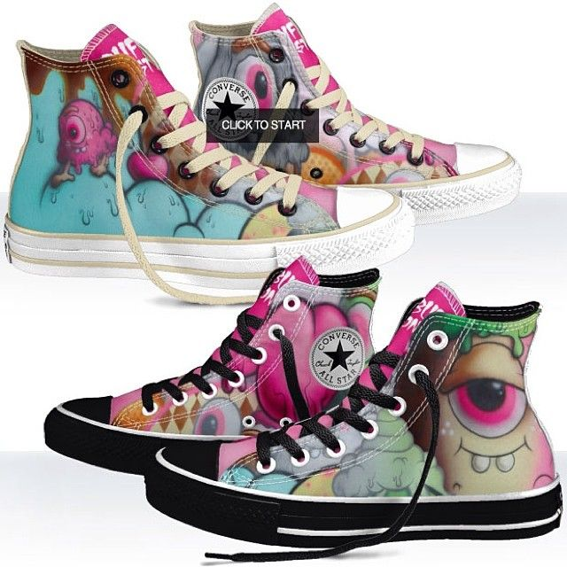 c4a9796e279d Ooooh Buff Monster Chuck Taylors by  Converse . Design your own- change the  color of the laces