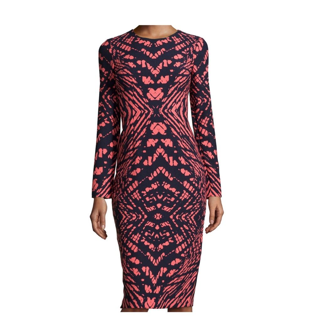 Maggy london printed long sleeve midi dress products