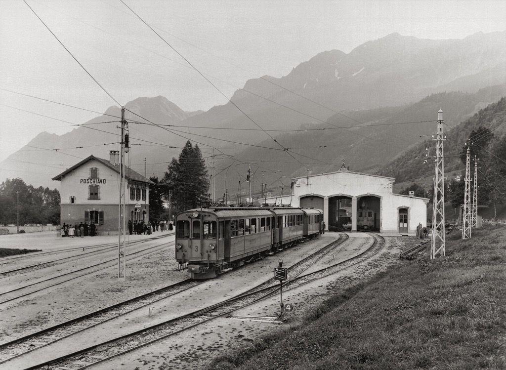 Bahnhof Und Depot Poschiavo In Der Anfangszeit Schweiz Tourismus