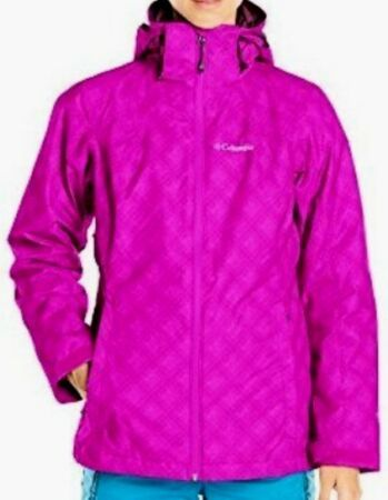 Columbia WHIRLIBIRD Interchange 3-in-1 Jacket Bright PLUM FLORAL Womens M New
