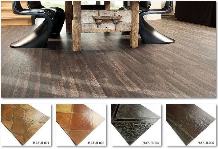 Oem Euro Residential Pvc Vinyl Sheet Flooring Roll Plank Floor Tiles Top Joy