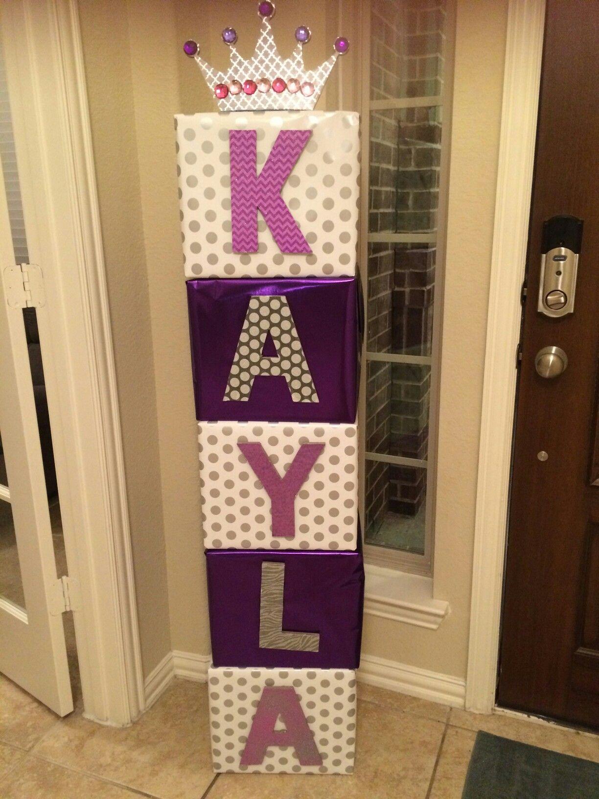 Usar letras de v ctoria ideas cumplea os v ctoria for Wedding mailbox decorating ideas