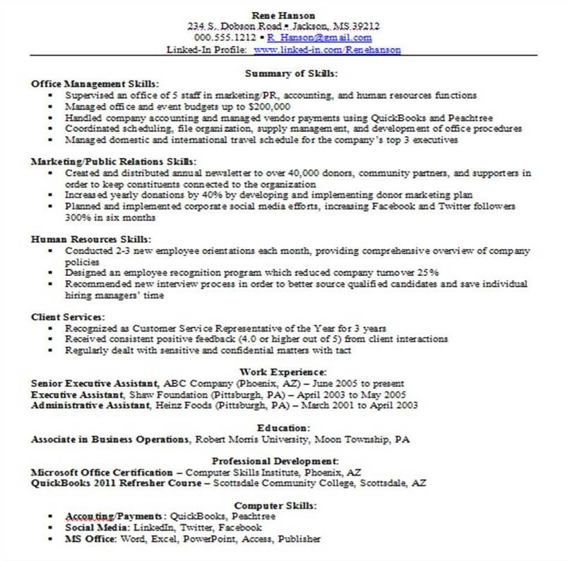Good Great Skills Resume Example You are in the right place All - executive assistant summary of qualifications