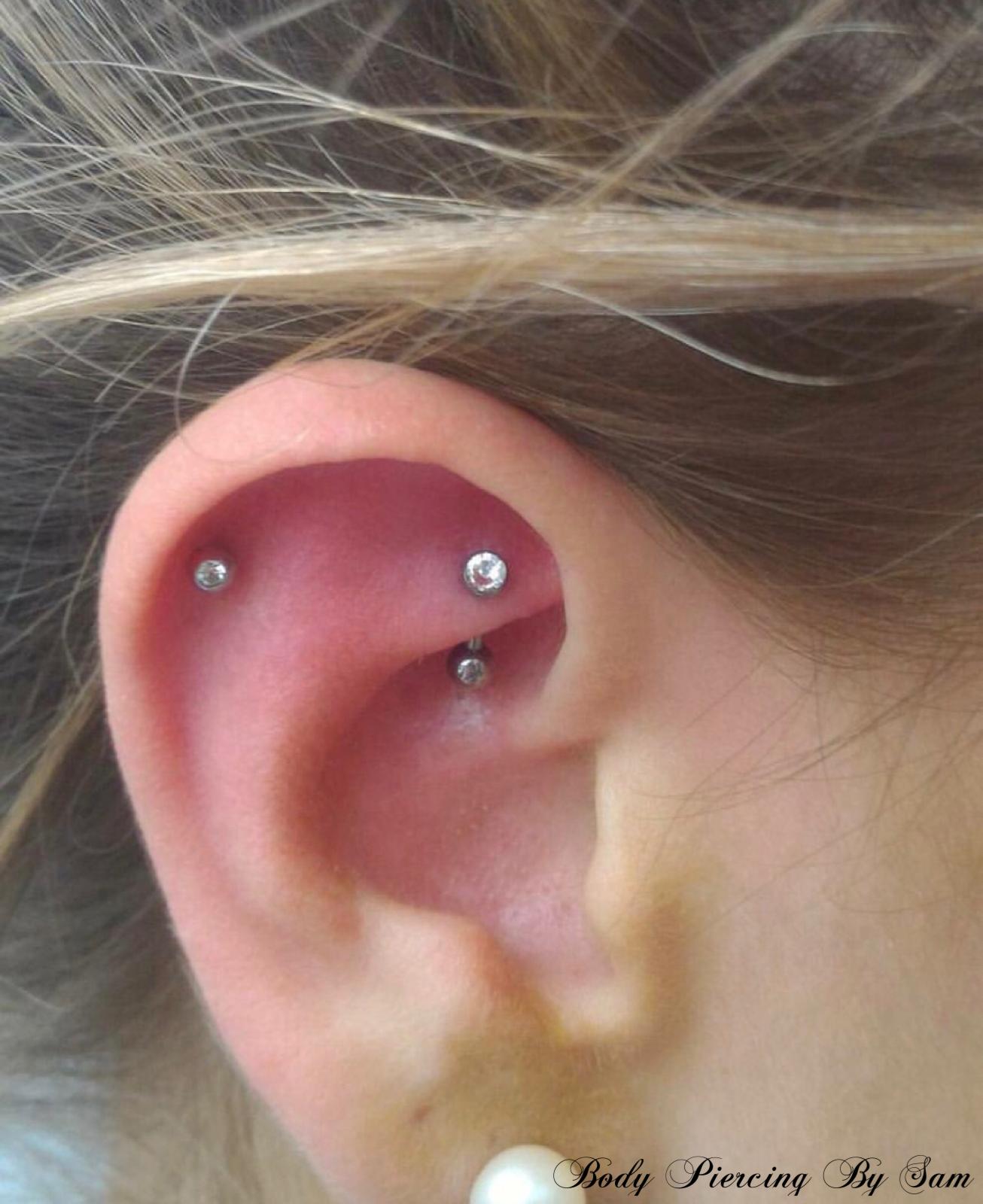 Nose piercing post  piercing piercings pierced piercer titanium implant shiny