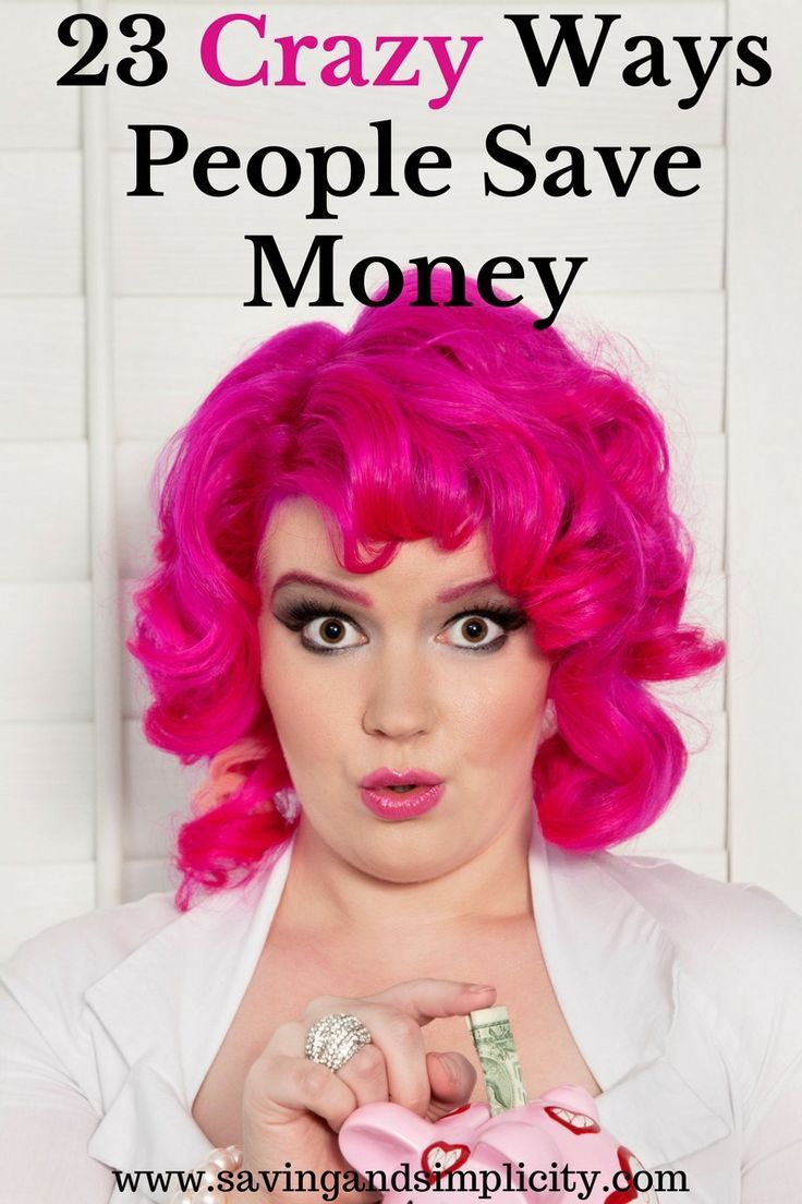 Learn some of the crazy ways people save money. Would you opt to do without (blank) to save money? Would you? Could you? To save money. I bet you would.