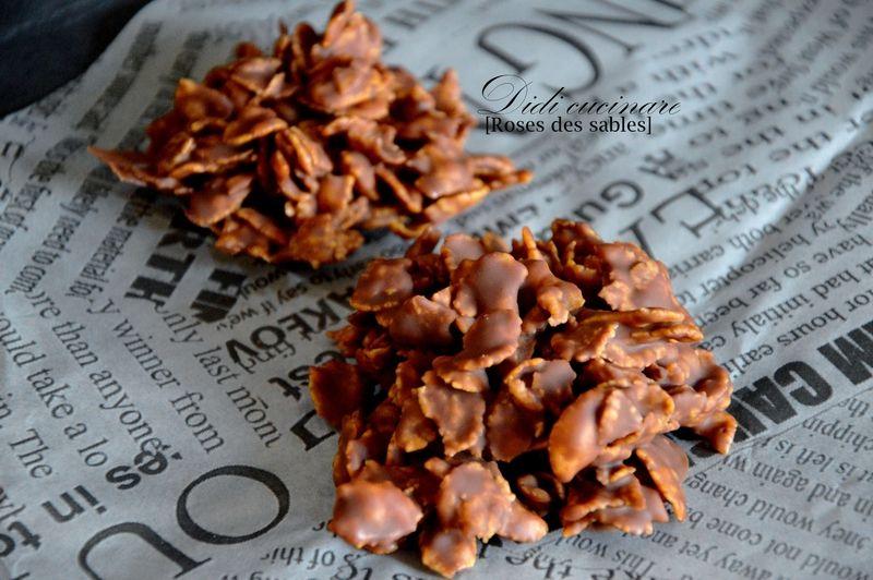 Biscuits Roses Des Sables Au Chocolat Au Lait Plaisirs Des