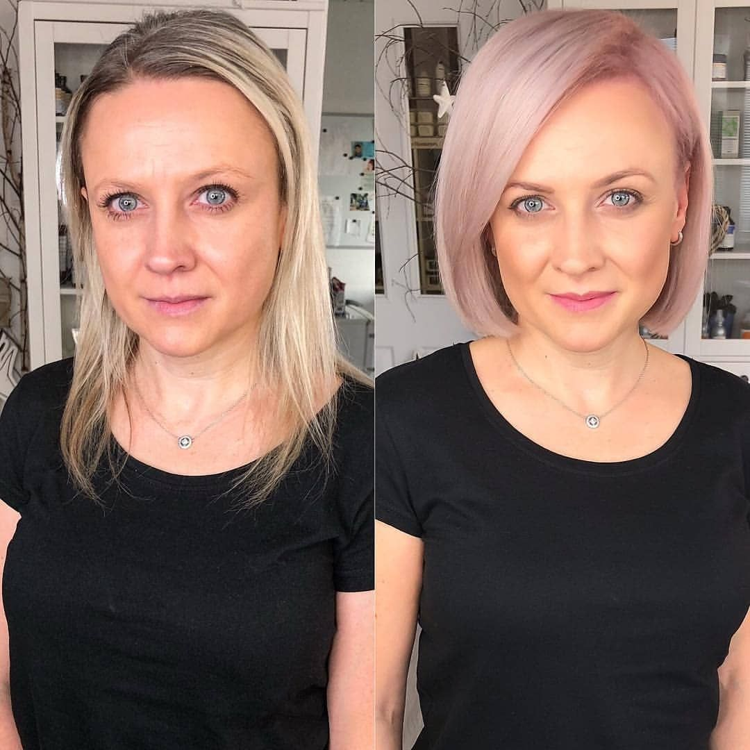Pin Von Hairstyles Compendium Auf Before After Hair Makeovers I Lange Kurze Haare Haarschnitt Ideen Styling Kurzes Haar