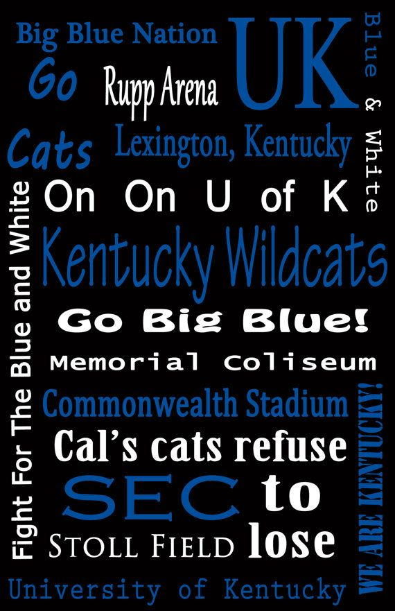 Kentucky Wildcat Subway Sign by sportsstuff4u on Etsy, $20.00