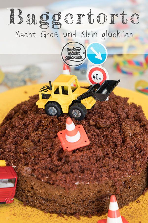 Einfacher Baustellen Kuchen Baggertorte Backen Macht Glucklich Rezept Bagger Torte Bagger Kuchen Torte Kindergeburtstag