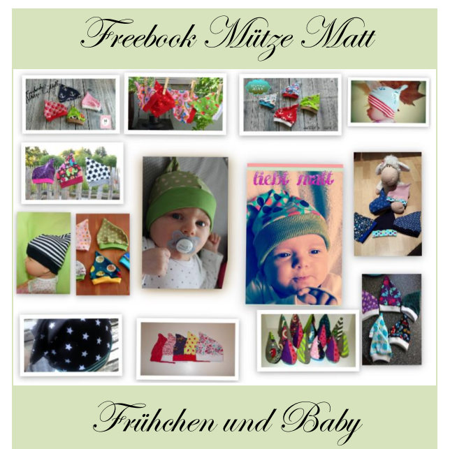 Mütze Matt für Baby\'s und Frühchen ist fertig. KU 28 – 46 cm das ...