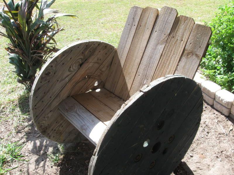 Wood Reel Chair