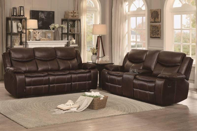 Homelegance Bastrop 2 Piece Sofa Set 8230brw 2 Set Sofa Set Living Room Sofa Design Sofa Design