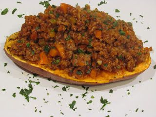Peace, Love, and Low Carb: Low Carb Sloppy Joe Stuffed Sweet Potatoes  www.advocare.com/130912706