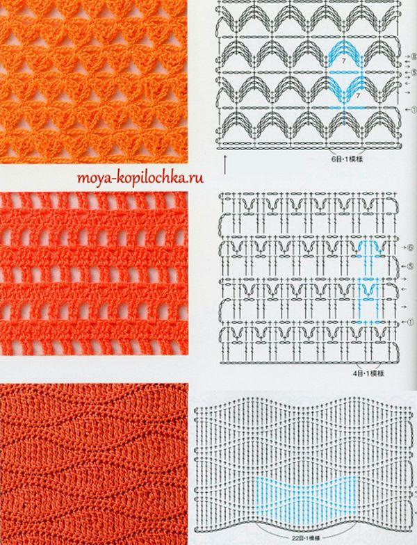 Colección de patrones y motivos, los de punto | CROCHET PASO A PASO ...