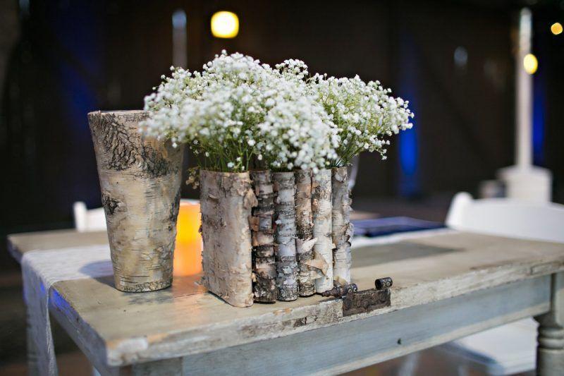 birkenstamm deko vasen wohnen diy birch decor und. Black Bedroom Furniture Sets. Home Design Ideas