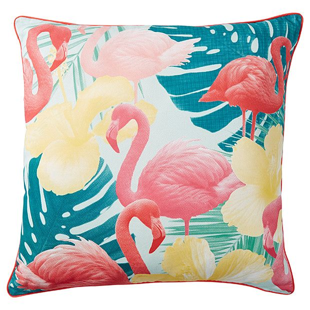 Captivating Flamingo 60cm Outdoor Cushion | Target Australia