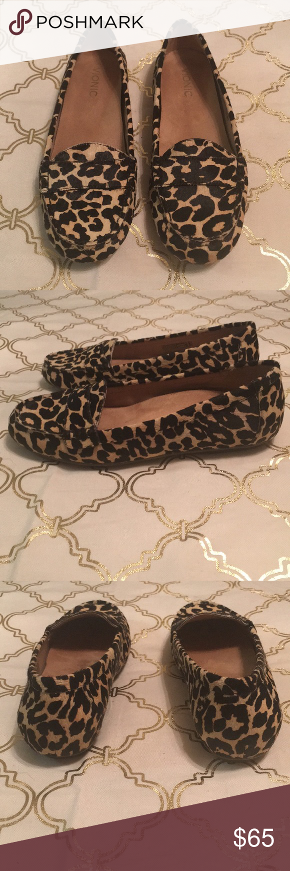 8a0525e87e0d Vionic leopard print calf hair loafers size 9 Brand new! Never worn! Vionic  flats. Incredibly comfortable cushioned insoles. Calf hair outers.