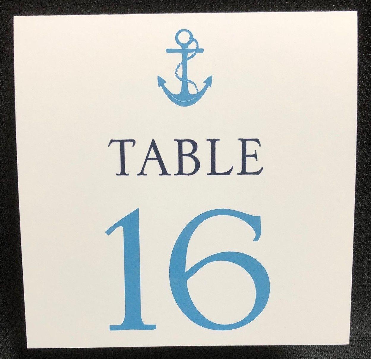 Nautical table number nautical table boston wedding