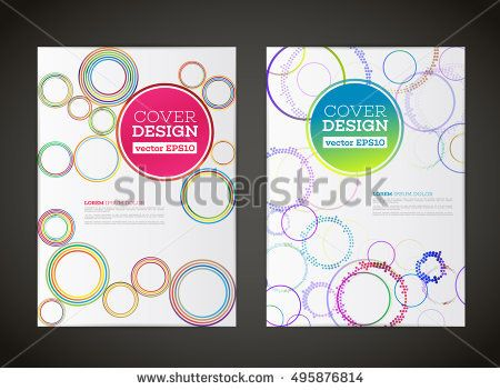Abstract Vector Circle Design For Flyer Business Card Poster
