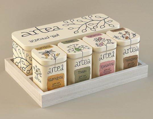 Tea package by Masha Ponomareva