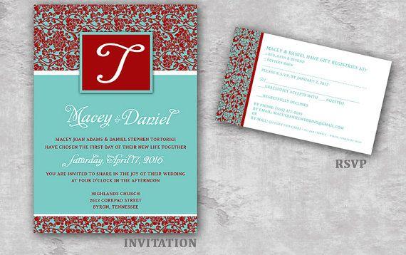 WEDDING INVITATION Damask