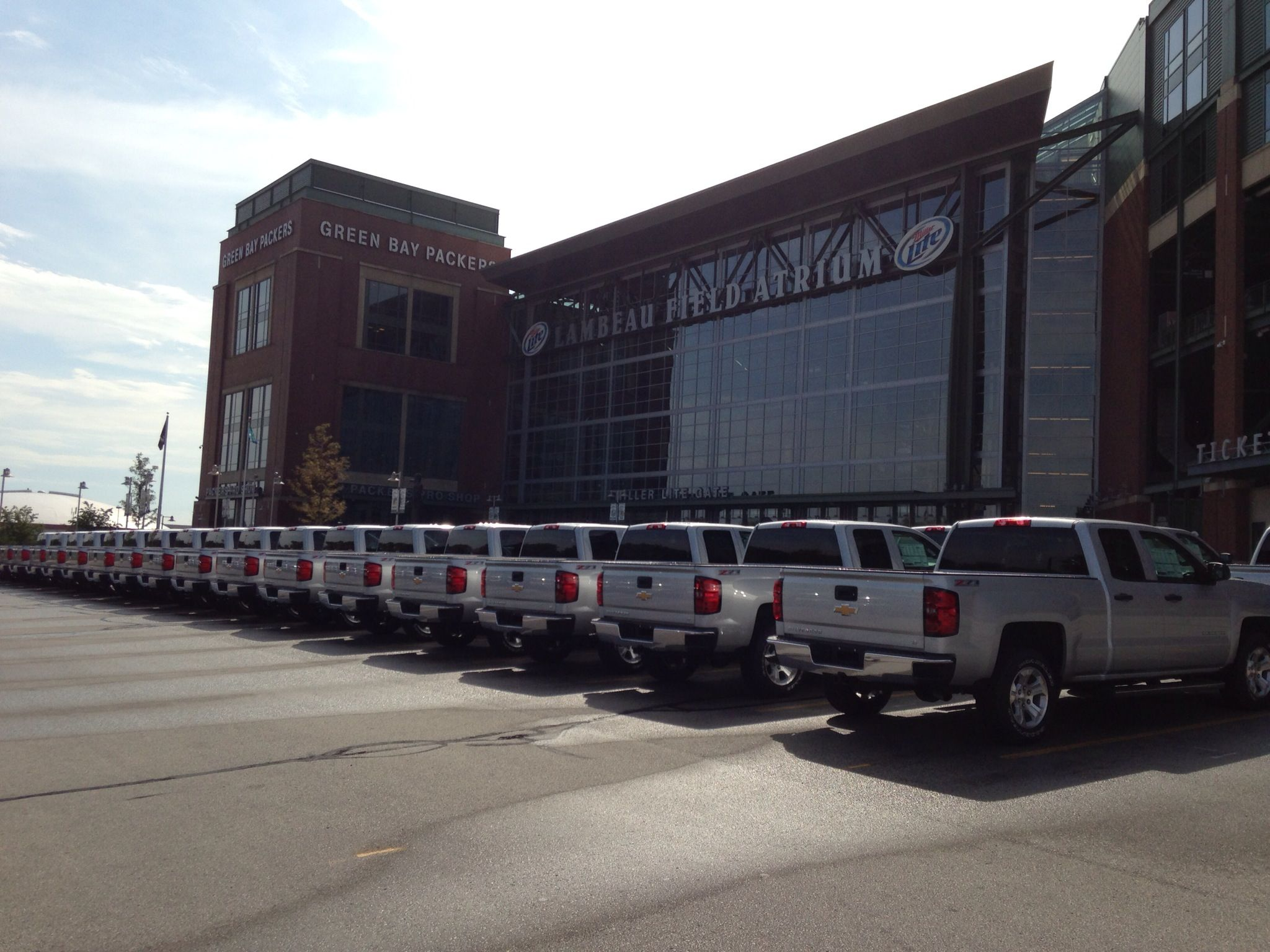Chevrolet The Official Vehicle Of The Greenbaypackers Check Out
