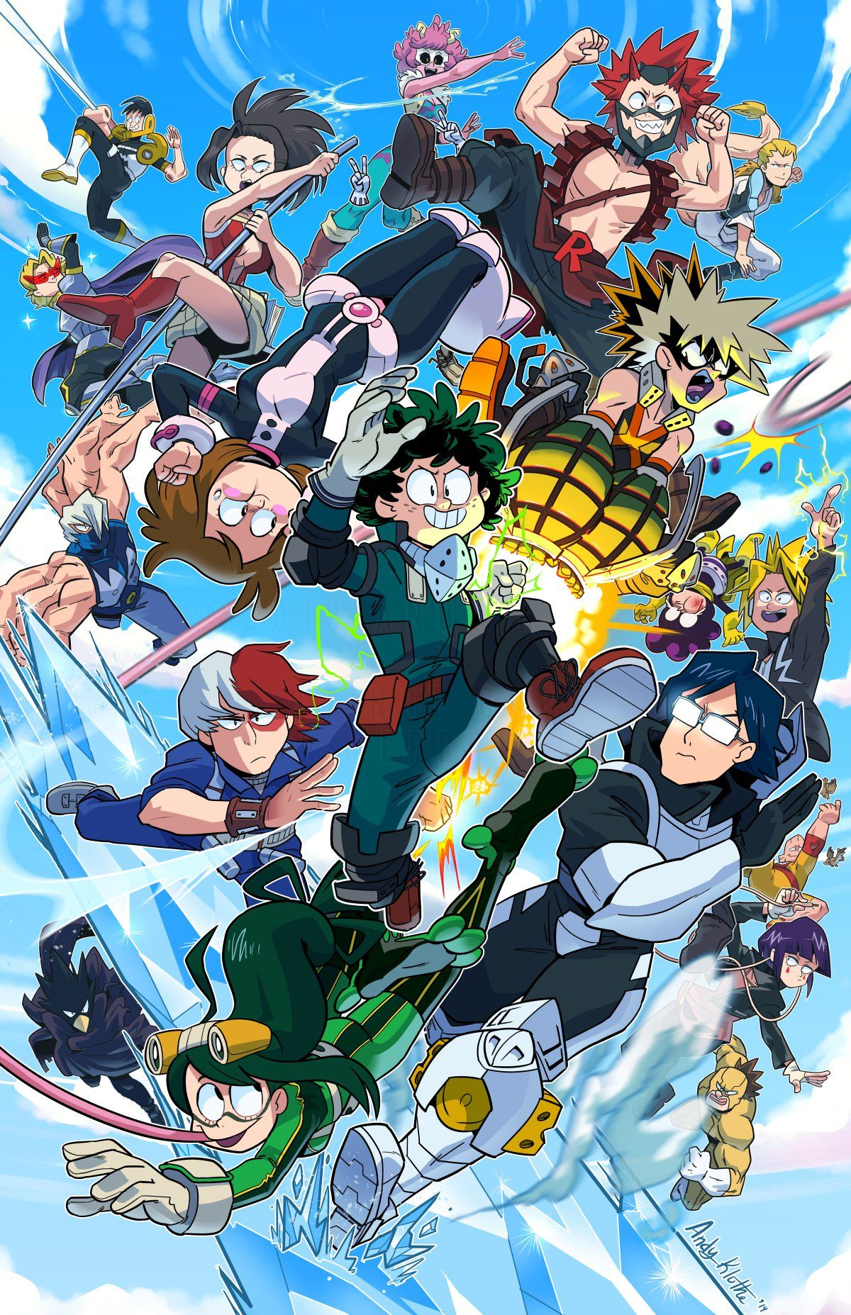Mha cartoon style My hero, Hero, Hero academia characters