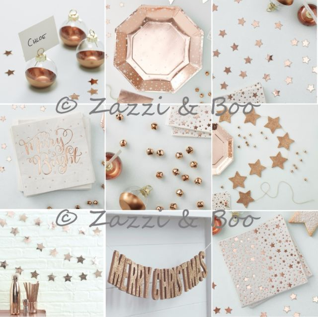 GINGER RAY ROSE GOLD CHRISTMAS PARTY WEDDING DECORATION ...