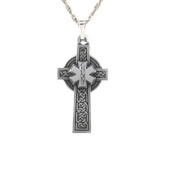 Pewter celctic star of life cross pendant aloadofball Image collections