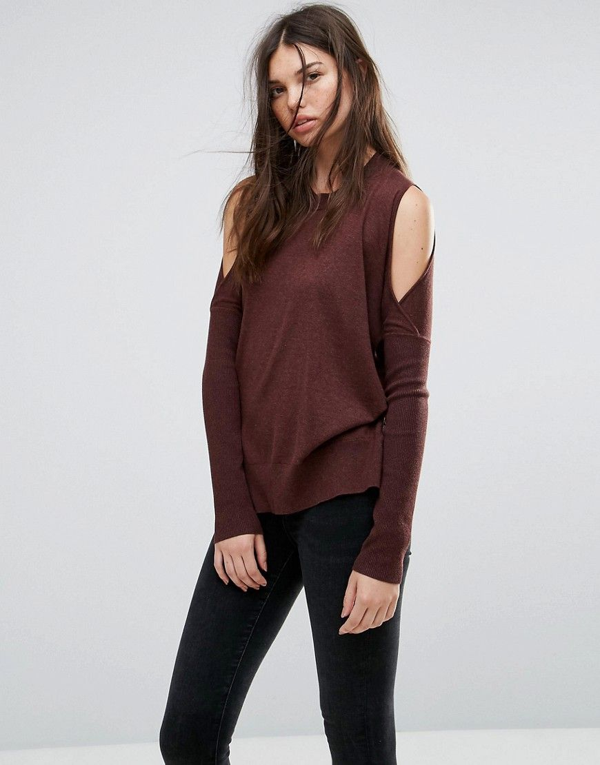 3933aa0b163 ALLSAINTS REYA SWEATER WITH COLD SHOULDER - RED.  allsaints  cloth ...