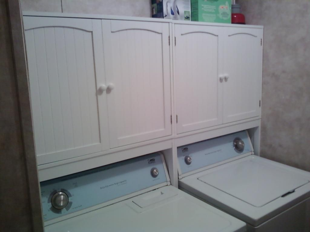 Above Washer Dryer Standing Shelf | LifeStyles Over Washer Cupboard