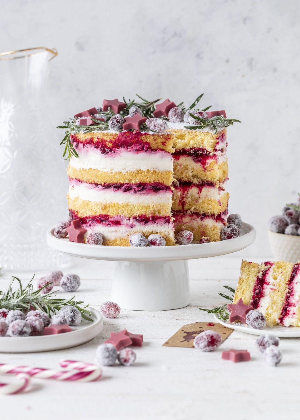 Cranberry Biskuit Tortchen Emma S Lieblingsstucke Rezept Kuchen Und Torten Rezepte Torten Rezepte Kuchen Und Torten