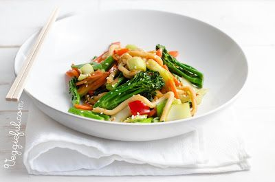 Veggieful: Vegan Udon Noodle and Vegetable Stir Fry Recipe
