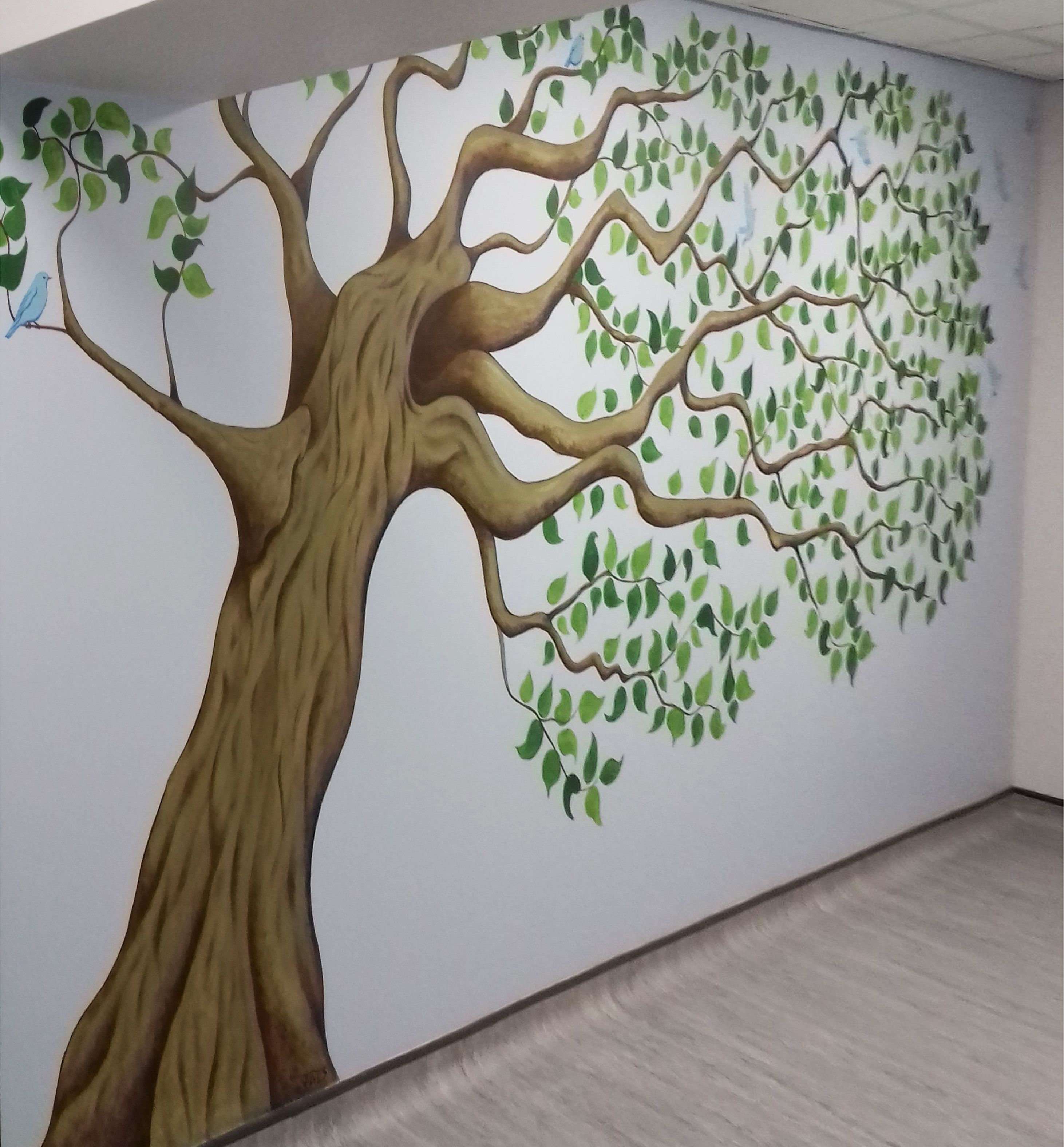 Amazing Tree Mural By One Of Our Registered Artists