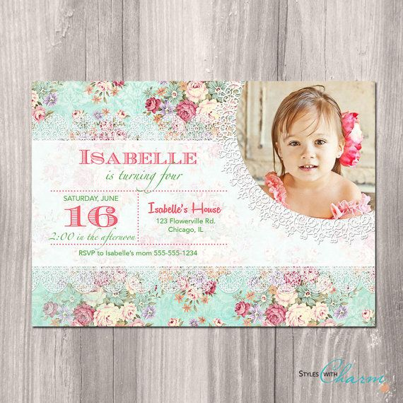 Shabby chic birthday invitation princess garden tea party girl shabby chic birthday invitation princess by styleswithcharm filmwisefo